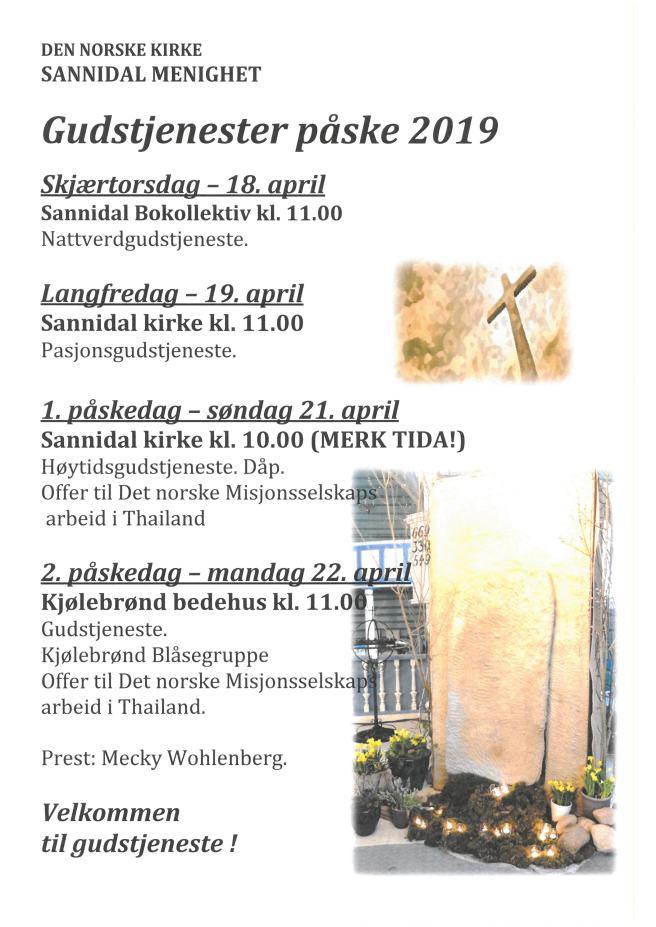 Påske 2019 plakat FB hjemmeside