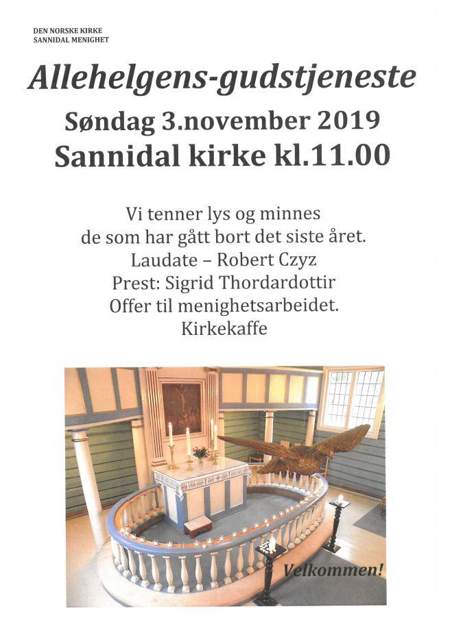 191102 Plakat Sannidal Allehelgen FB